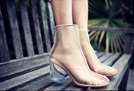 Lucite shoes from CHIKO Shoes