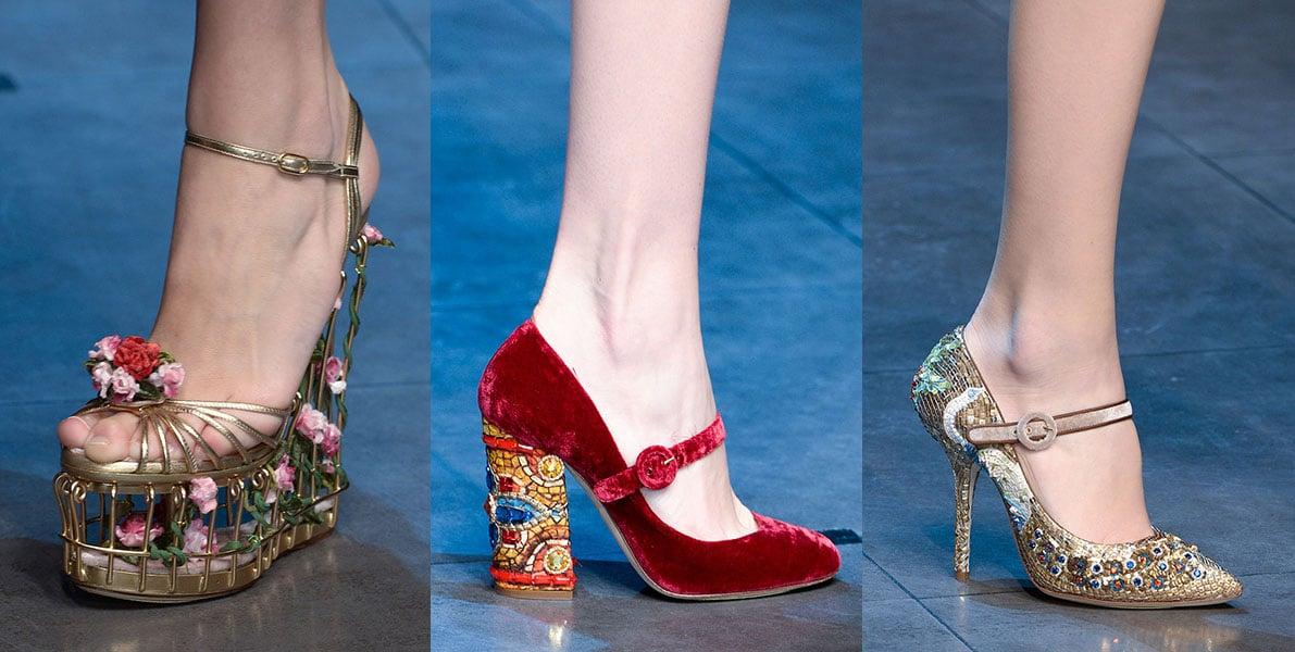 Dolce Gabbana Milan Fashion Week Fall 2013 Heel Chiko Shoes Blog