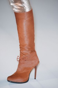 Jean Paul Gaultier Fall 2013 - Brown Boots