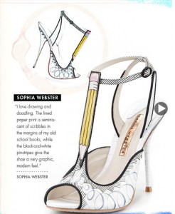 Sophia Webster Shoe Design Illustration