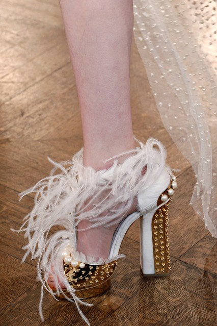 Alexander McQueen _feather fringed sandal