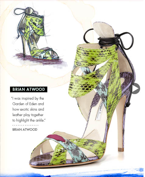 Brian Atwood Shoe Design Illustration
