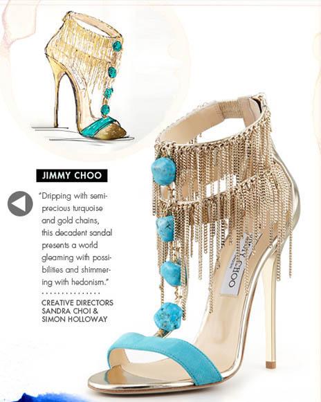 Jimmy Choo Shoe Design Illustration