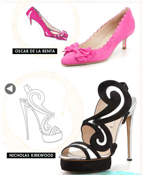 Oscar de la Renta And Nicholas Kirkwood Shoe Design Illustration