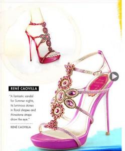 Rene Caovilla Shoe Design Illustration