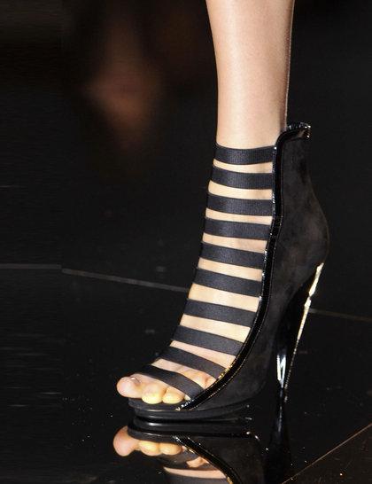 Gucci Black Shoes Milan Fashion Week SS 2014