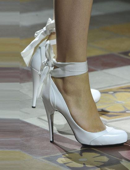 Lavin White Shoes Paris Fashion Week SS 2014