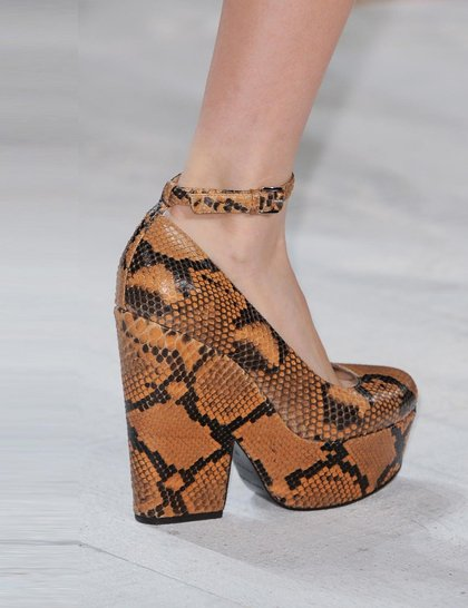 Michael Kors Snakeskin-brown-shoes NY Fashion Week SS 2014