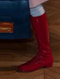 Miu Miu Red Boot Paris Fashion Week SS 2014