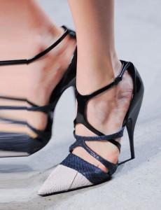 Narciso Rodriguez Navy-white-black-shoes NY Fashion Week SS 2014