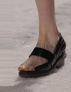 Phillip Lim Black-clear-sandal NY fashion week ss 2014