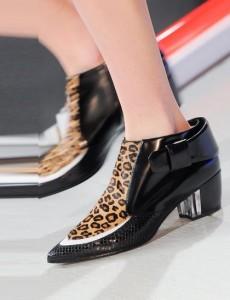 Rodarte Leopard-boot NY fashion week ss 2014