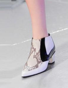 Rodarte White-snake-boot NY fashion week ss 2014