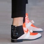 Roksanda ilincic flat black orange boot London Fashion week ss 2014