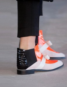 Roksanda ilincic flat black orange boot London Fashion week ss 2014