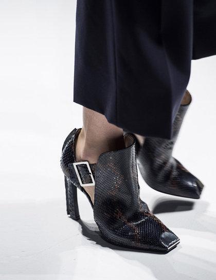 Salvatore Ferragamo black-snakeskin-shoes Milan fashion week ss 2014