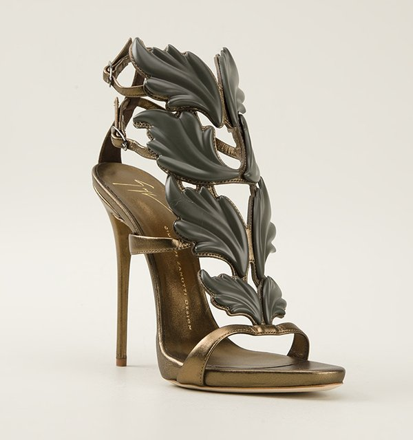 Giuseppe-Zanotti-Dea-Gold-Leaf-Sandals-Spring-2014