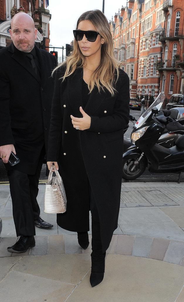 Kim Kardashian Chic Street Style in Paris