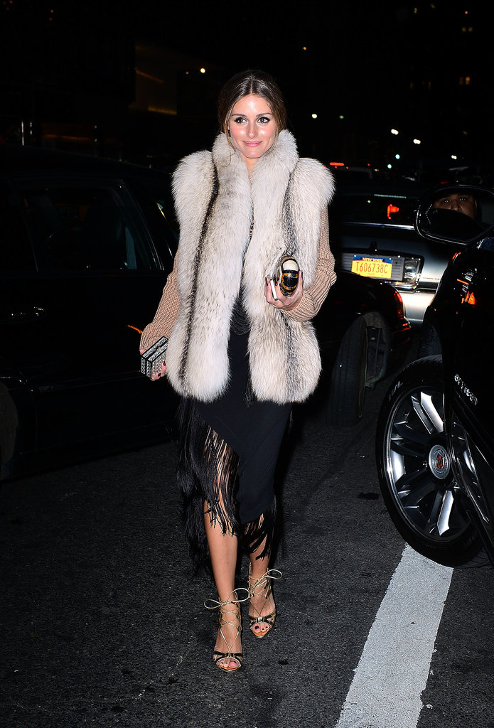 Olivia-added-furry-vest-her-evening-look-chic-Winter-ready-effect