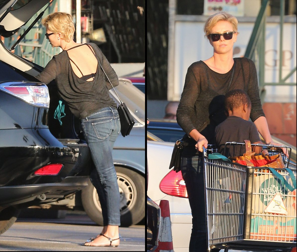 Latest Celebrity Stree... Charlize Theron Sean Penn