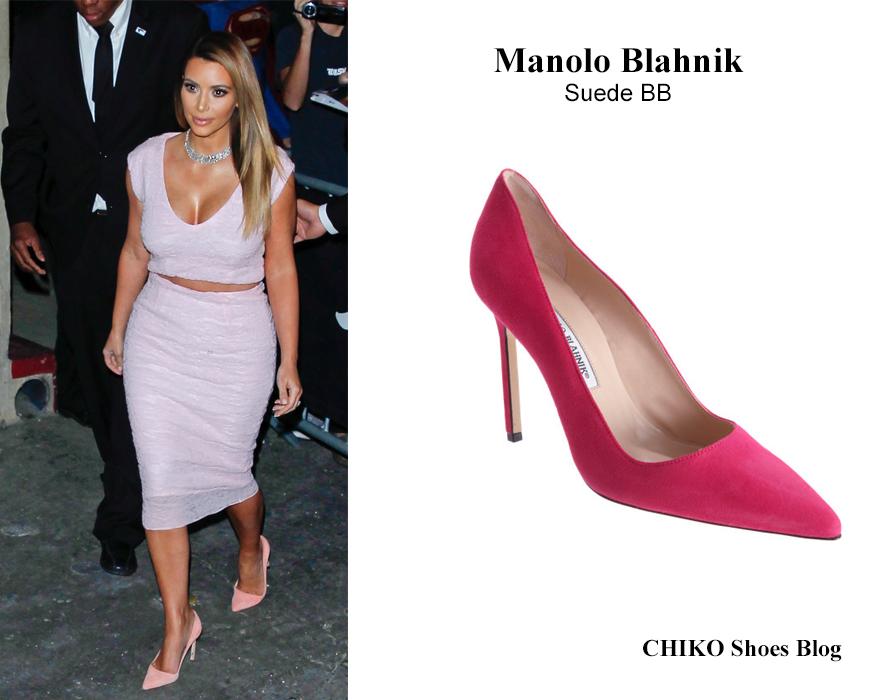 kim-kardashian-in-Manolo-Blahnik-Pumps