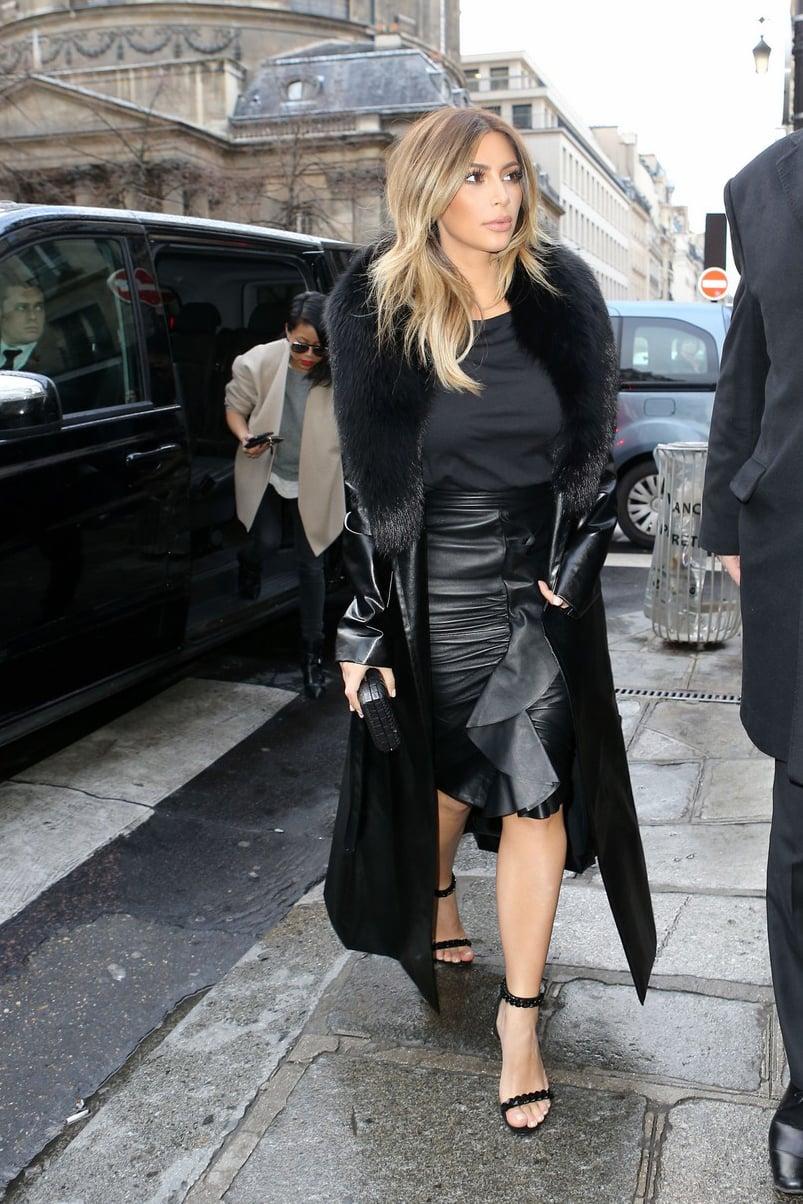 Kim Kardashian Chic Street Style In Paris Chiko Shoes Blog