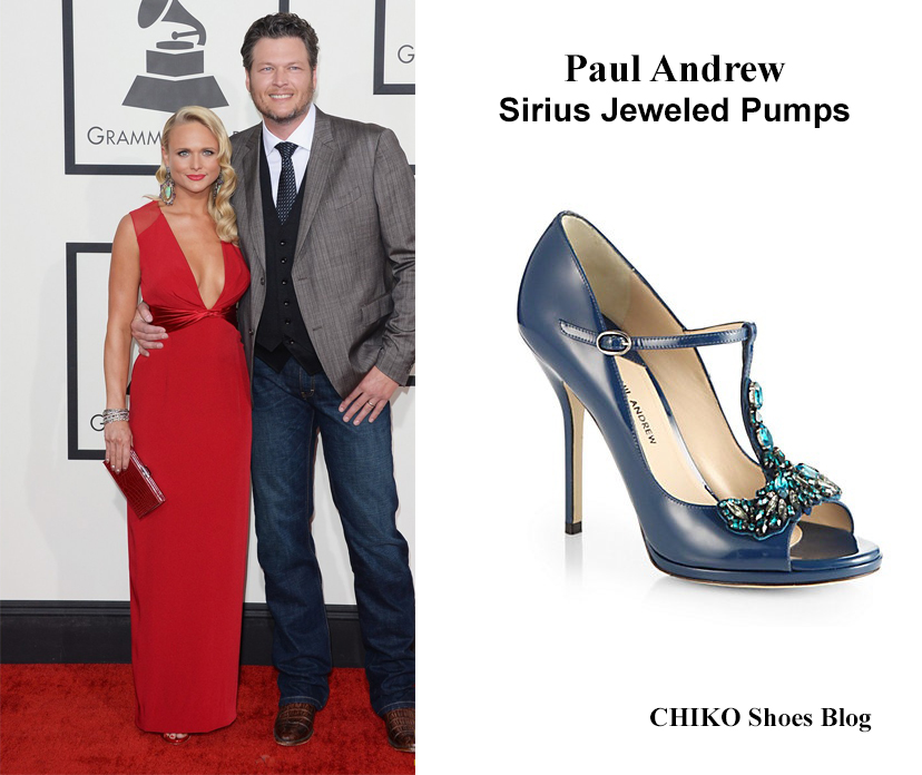 miranda-lambert-blake-shelton-grammys-2014-red-carpet-paul-andrew