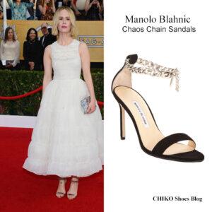 sarah-paulson-paul-dano-sag-awards-2014-Manolo-Blahnic-Chaos-chain-sandal