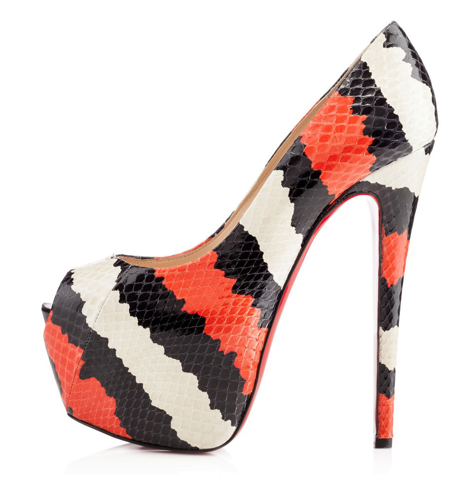fake red bottom shoes - christian louboutin viveka 120 snakeskin sandals, christian ...