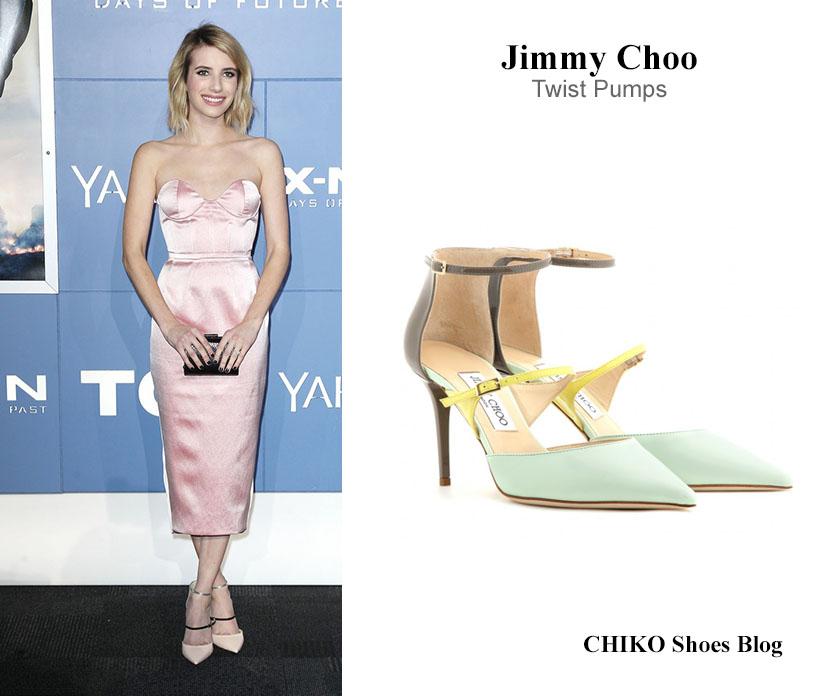 emma-roberts-jimmy-choo-twist-pumps