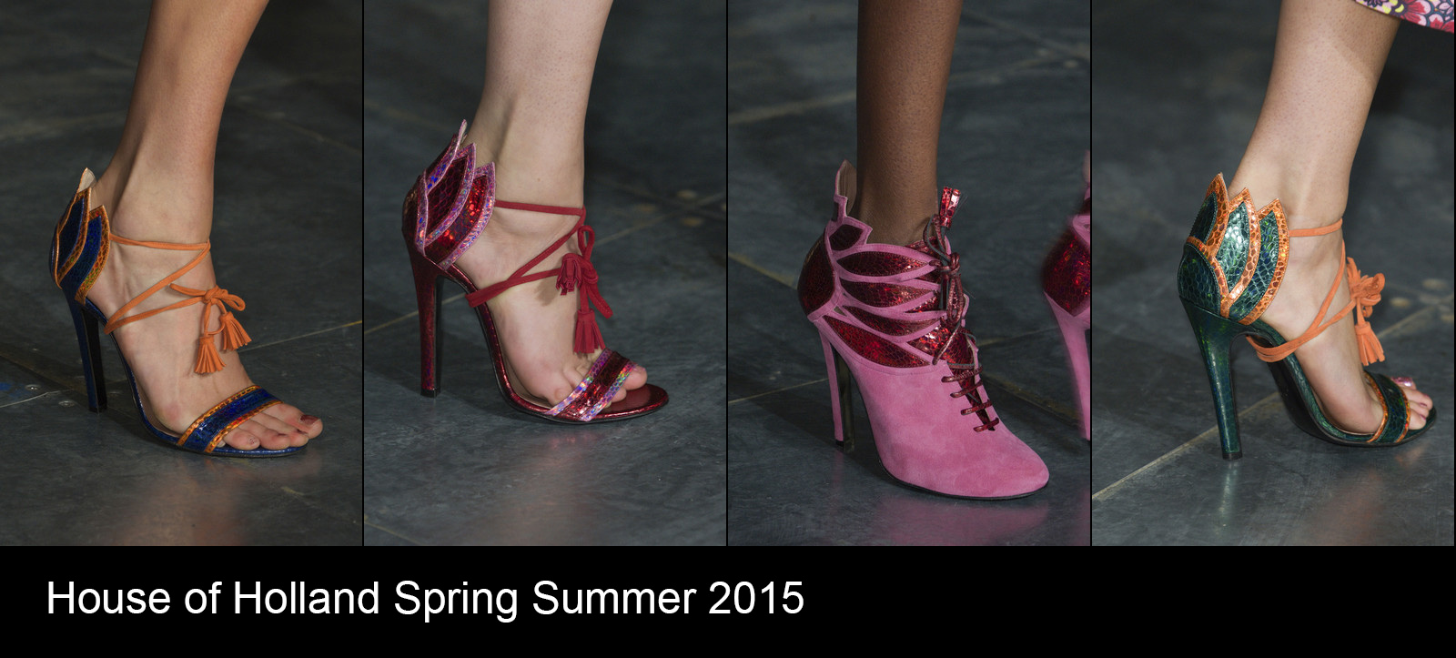 House of Holland runway shoes spring summer 2015
