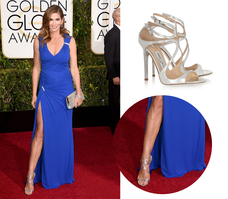 cindy-crawford-golden-globes-2015-jimmy-choo-lance-sandals