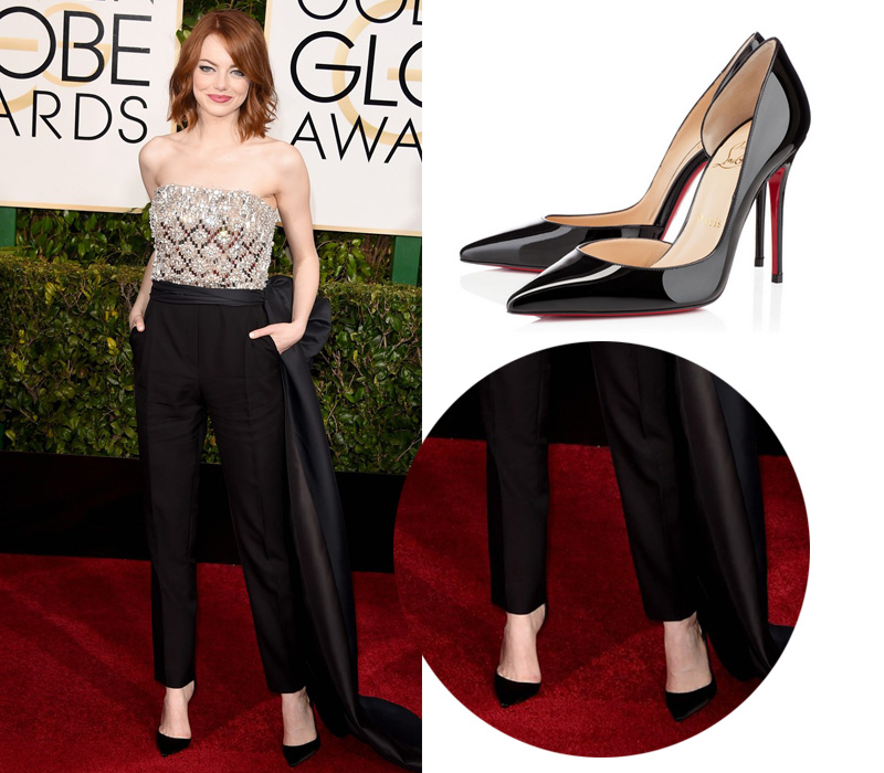 Shoes On Red Carpet Of Golden Globe 2015