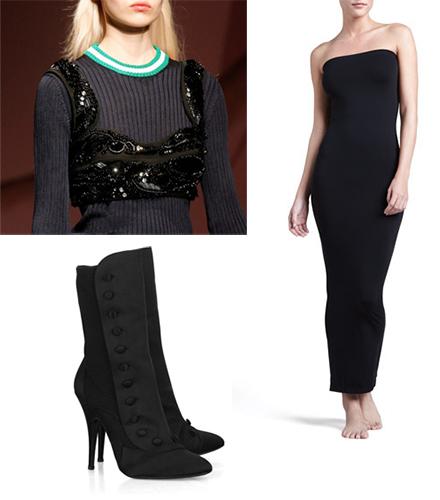 how-to-style-satin-ankle-boots-kim-kardashian