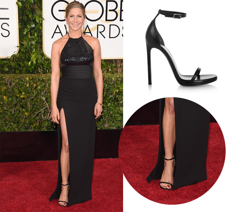 jennifer-aniston-golden-globes-2015-Saint-Laurent-Jane-Sandal