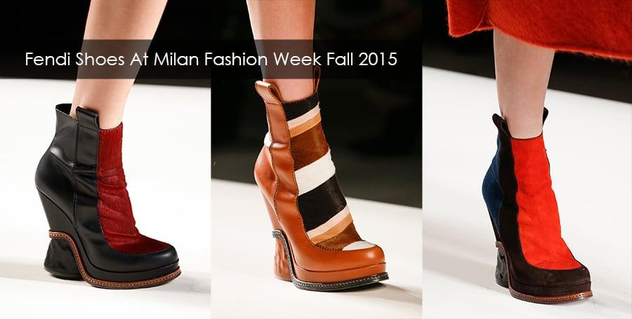 Fendi shoes at milan fashion week fall winter 2015/2016