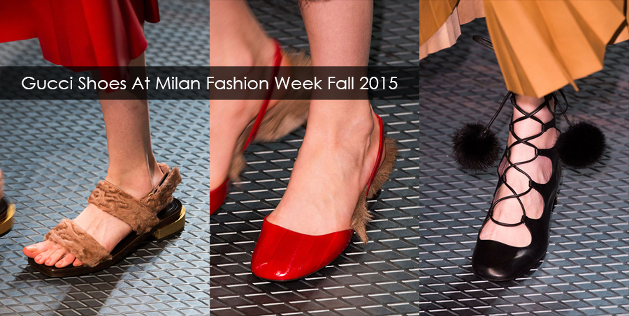 Gucci Shoes At Milan Fashion Week Fall Winter 2015/2016