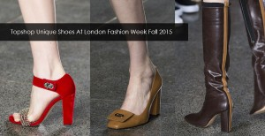 Topshop Unique shoes at London fashion week fall winter 2015 2016