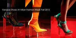 Versace shoes at Milan fashion week fall winter 2015/2016