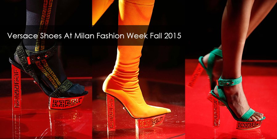 Versace shoes at Milan fashion week fall winter 2015/2016