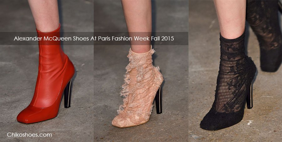 Alexander McQueen Shoes At Paris Fashion Week Fall Winter 2015/2016