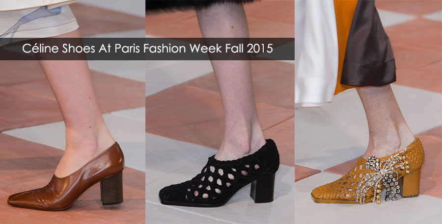 Celine shoes at paris fashion week fall winter 2015/2016