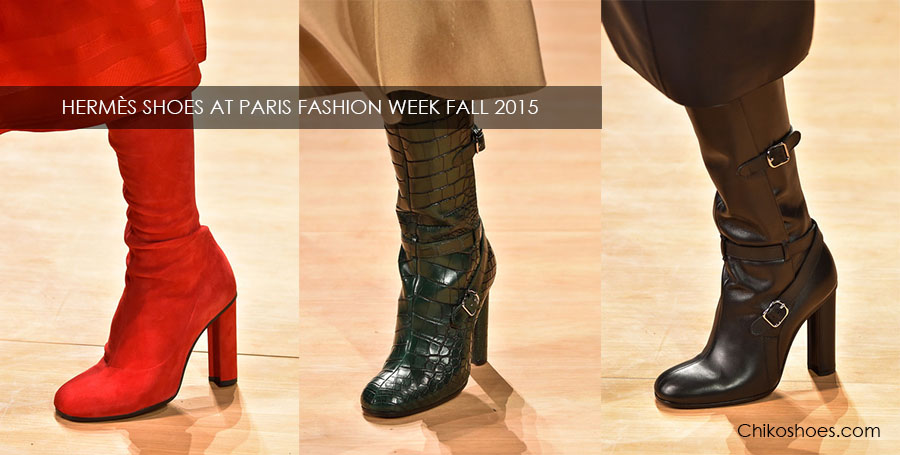 HERMÈS SHOES AT PARIS FASHION WEEK FALL WINTER 2015/2016