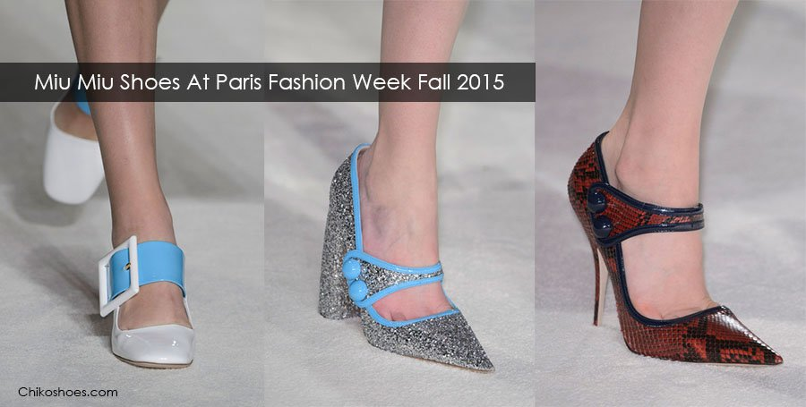 Miu Miu Shoes At Paris Fashion Week Fall Winter 2015/2016