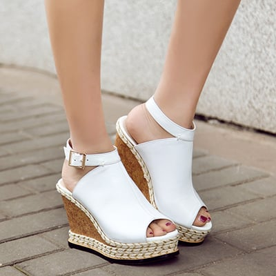 Chiko Clarette Espadrille Peep Toe Wedge Sandals