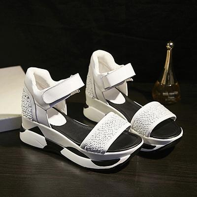 Chiko Claudette Athletic Sequin Flatform Sandals