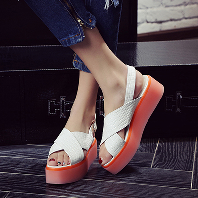 Chiko Darcia Cross Strap Flatform Sandals