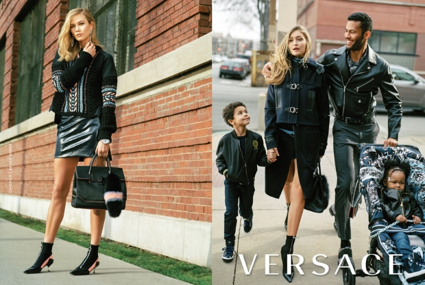 Gigi Hadid & Karlie Kloss Play Mums In Versace Fall 2016 Campaign