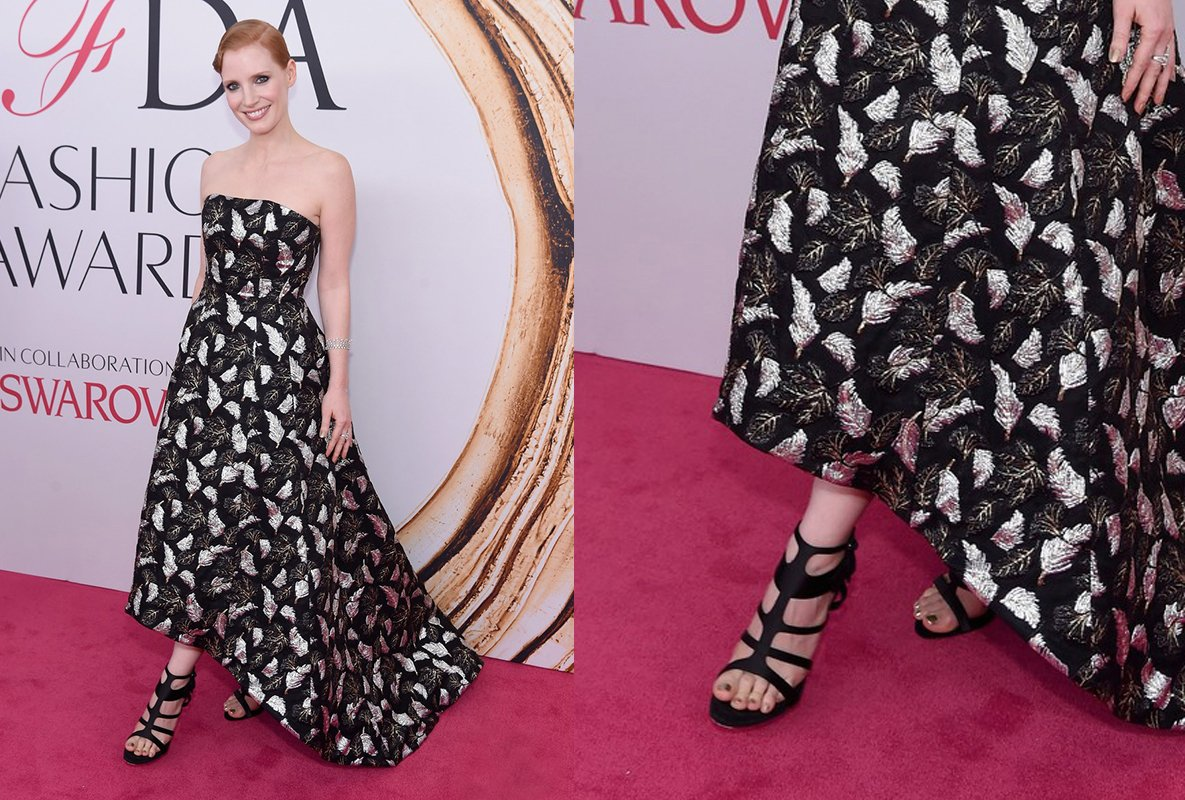 jessica-chastain-cfda-2016-shoes