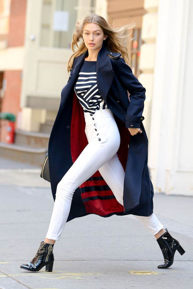 Gigi Hadid Proves Block Heel Ankle Boots Are Must Have ... Tomboy Fashion